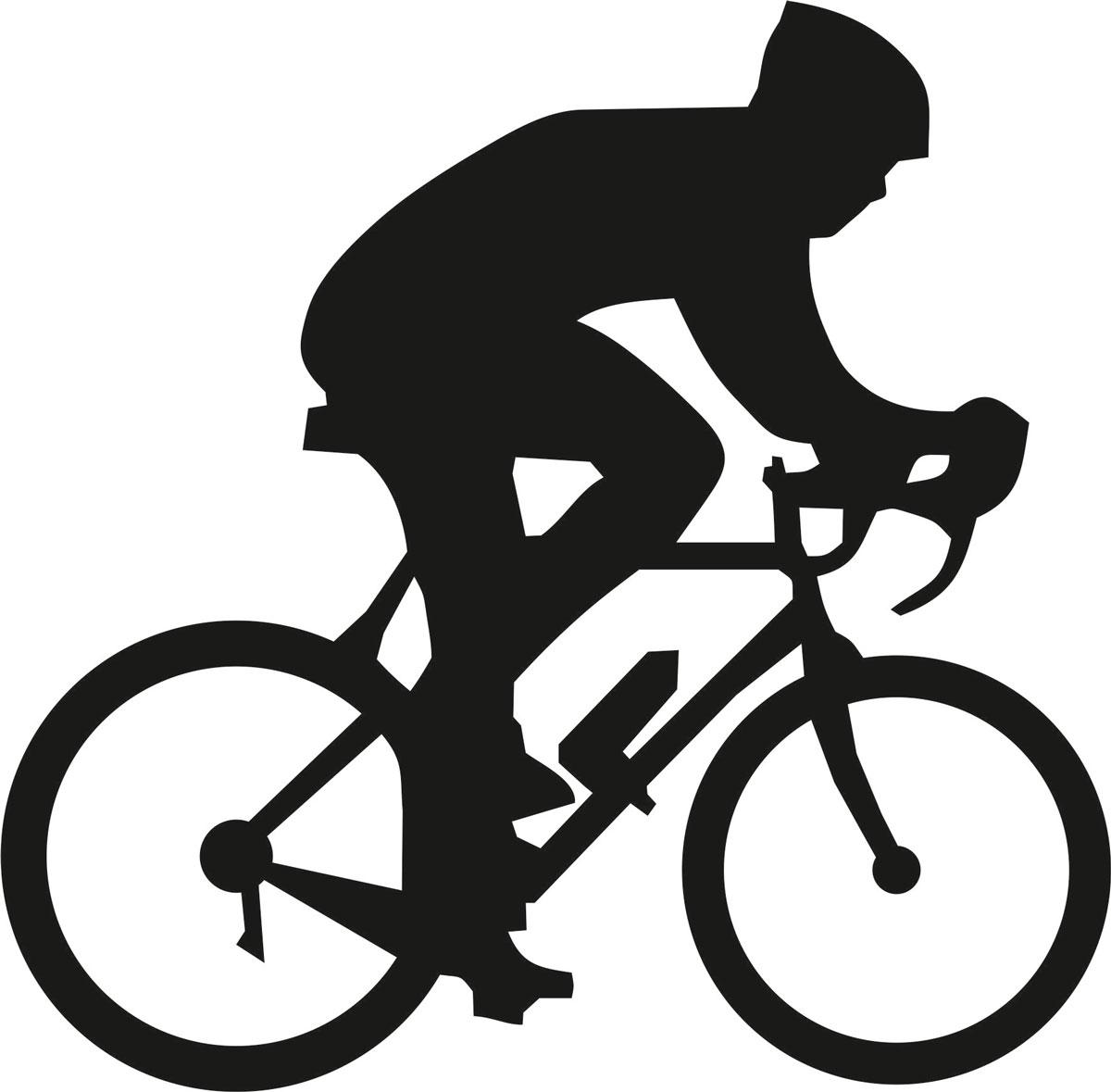 Наклейка автомобильная Оранжевый слоник Велосипедист 1, виниловая, цвет: черный150SP0003BОригинальная наклейка Оранжевый слоник Велосипедист 1 изготовлена из высококачественного винила, который выполняет не только декоративную функцию, но и защищает кузов от небольших механических повреждений, либо скрывает уже существующие.Виниловые наклейки на авто - это не только красиво, но еще и быстро! Всего за несколько минут вы можете полностью преобразить свой автомобиль, сделать его ярким, необычным, особенным и неповторимым!