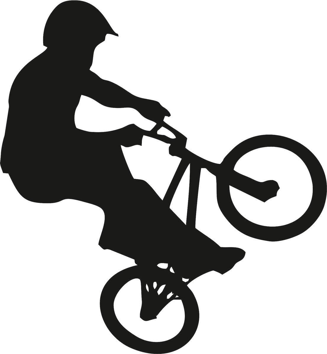 Наклейка автомобильная Оранжевый слоник Велосипед, виниловая, цвет: черный150SP00042BОригинальная наклейка Оранжевый слоник Велосипед изготовлена из высококачественной виниловой пленки, которая выполняет не только декоративную функцию, но и защищает кузов автомобиля от небольших механических повреждений, либо скрывает уже существующие.Виниловые наклейки на автомобиль - это не только красиво, но еще и быстро! Всего за несколько минут вы можете полностью преобразить свой автомобиль, сделать его ярким, необычным, особенным и неповторимым!