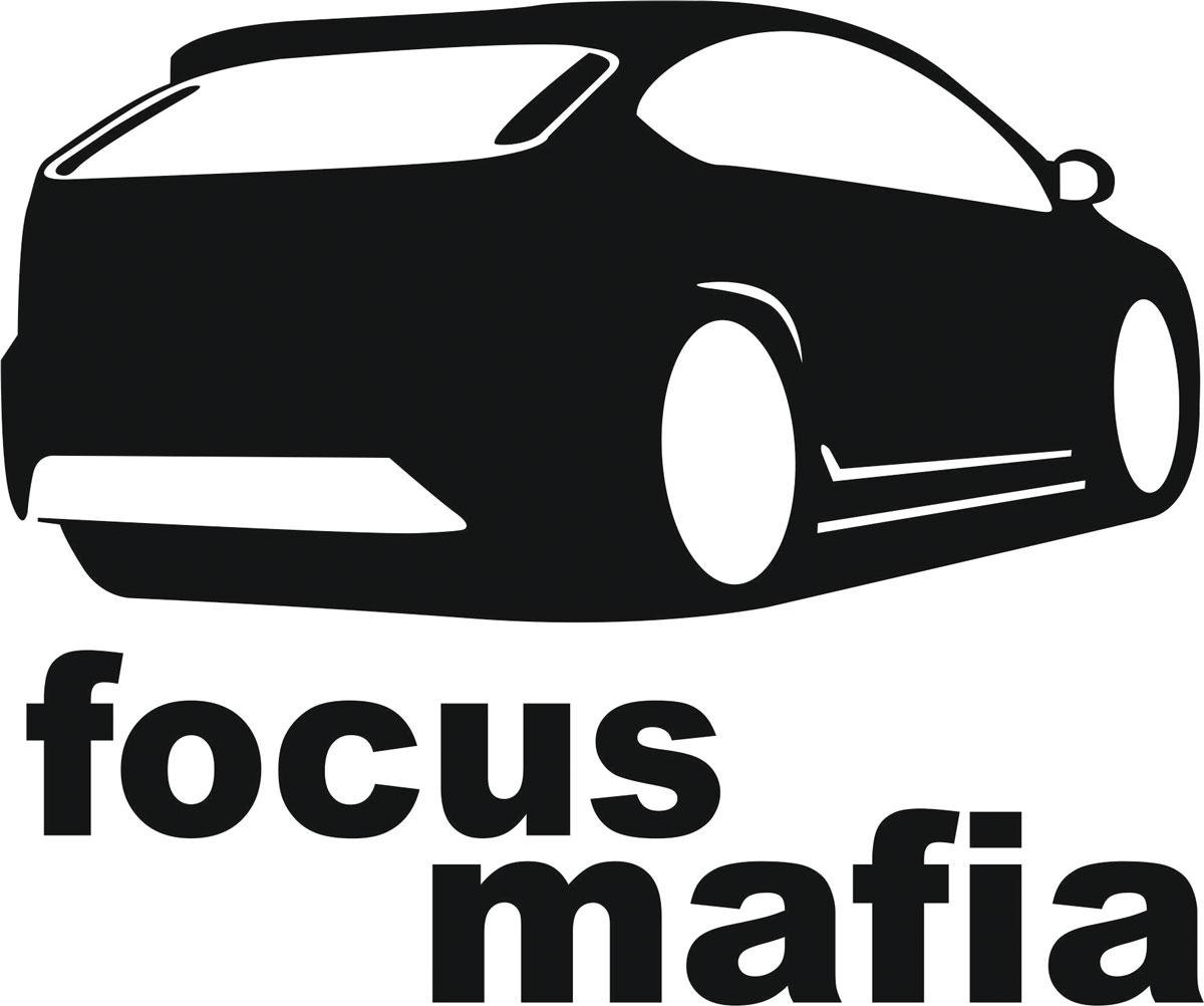 Наклейка автомобильная Оранжевый слоник Focus Mafia, виниловая, цвет: черный наклейка автомобильная оранжевый слоник niva mafia виниловая цвет белый