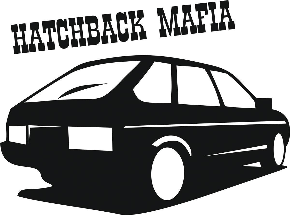 Наклейка автомобильная Оранжевый слоник Hatchback Mafia, виниловая, цвет: черный150TM00014BОригинальная наклейка Оранжевый слоник Hatchback Mafia изготовлена из высококачественной виниловой пленки, которая выполняет не только декоративную функцию, но и защищает кузов автомобиля от небольших механических повреждений, либо скрывает уже существующие.Виниловые наклейки на автомобиль - это не только красиво, но еще и быстро! Всего за несколько минут вы можете полностью преобразить свой автомобиль, сделать его ярким, необычным, особенным и неповторимым!