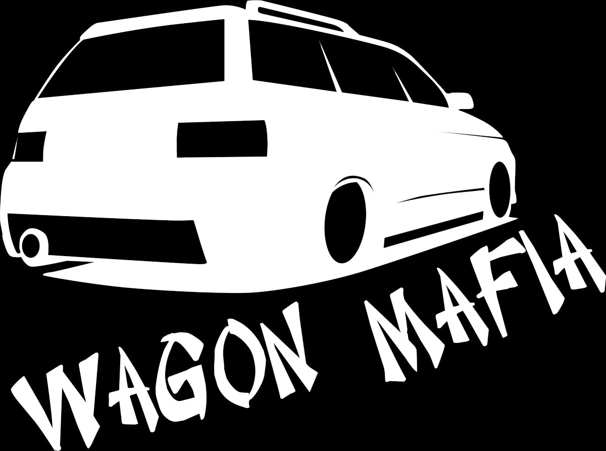 Наклейка автомобильная Оранжевый слоник Wagon Mafia, виниловая, цвет: белый наклейка автомобильная оранжевый слоник niva mafia виниловая цвет белый