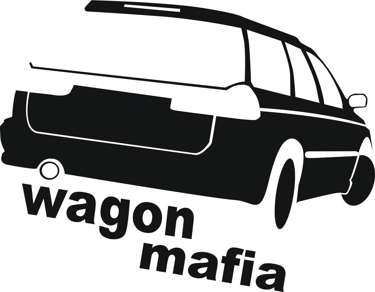 Наклейка автомобильная Оранжевый слоник Wagon Mafia 3, виниловая, цвет: черный наклейка автомобильная оранжевый слоник niva mafia виниловая цвет белый