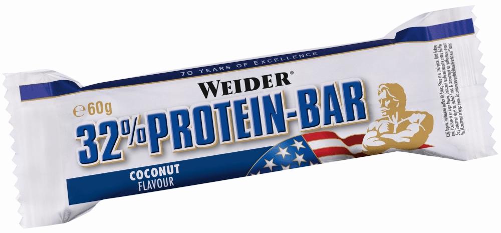 Батончик протеиновый Weider 32% Protein Bar, кокос, 60 г30907Weider 32% Protein Bar - это батончик, несущий в составе 32% высококачественного протеина. Он имеет много протеинов и мало жира для утоления легкого голода между приемами пищи. Может заменить протеиновый коктейль для увеличения белков в дневном рационе.Рекомендации по применению:Идеально употреблять между приемами пищи или как десерт, до и после тренировки.Состав: сироп глюкозы, молочный протеин, сироп фруктозы, гидрогенерированное растительное масло, гидролизат из коллагена протеина, декстроза, лимонная кислота, ароматизаторы, соль, витамин С (аскорбиновая кислота), высушенный яичный белок, витамин Е (ди-альфа токоферол), пантотеновая кислота (соль кальция), тиамин (витамин В1, HCl), рибофлавин (витамин В2), витамин В6 (пиридоксин HCl), E122.Товар сертифицирован. Как повысить эффективность тренировок с помощью спортивного питания? Статья OZON Гид