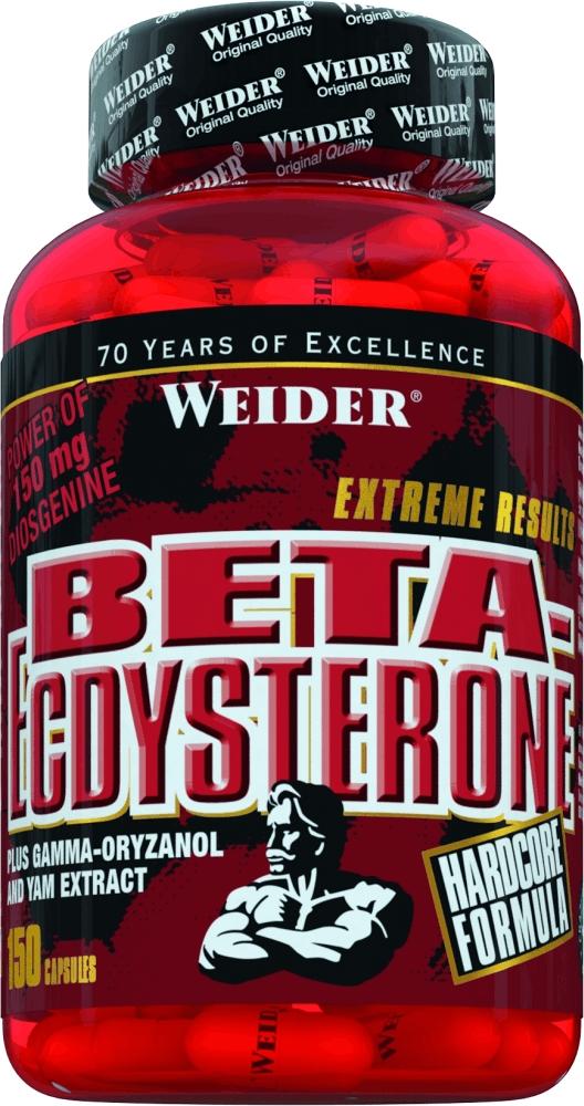 Бета-Экдистерон - это растительный экстракт, широко используемый в бодибилдинге для   наращивания мышечной массы. Weider бета экдистерон содержит высокие концентрации   активных ингредиентов и состоит из трех основных нутриентов:  Бета-экдистерон  Бета-экдистерон уже много лет используется спортсменами-профессионалами для увеличения   силы и выносливости! Известный факт, что качественное сырье для этого высокоценного для   спортсменов продукта стоит очень дорого. Поэтому качественный экдистерон могут получать   только очень большие, серьезные производители, такие как Weider.  Гамма Оризанол  Прием Гамма-Оризанол увеличивает уровень гормона тестостерона и выработку гормона роста.   Гамма-Оризанол получают в основном из рисовых отрубей в виде масляного экстракта.  Диоскореи экстракт  Улучшает работу сосудов, нервной системы, а женщинам помогает облегчить протекание   менопаузы.  Рекомендации по применению:  Пейте по 3 капсулы в день, запивая большим количеством воды.    Товар не является лекарственным средством.  Товар не рекомендован для лиц младше 18 лет.  Могут быть противопоказания и следует предварительно проконсультироваться со   специалистом.  Состав: экстракт шпината, экстракт ямса, гамма-оризанол, желатин, стеарат магния, оксид   железа, диоксид титана.  В одной капсуле: 6 ккал. белки - 0,9 г углеводы - 0,5 г экдистерон - 75 мг гамма-ориназол - 750 мг диоскарея - 150 мг      Как повысить эффективность тренировок с помощью спортивного питания? Статья OZON Гид