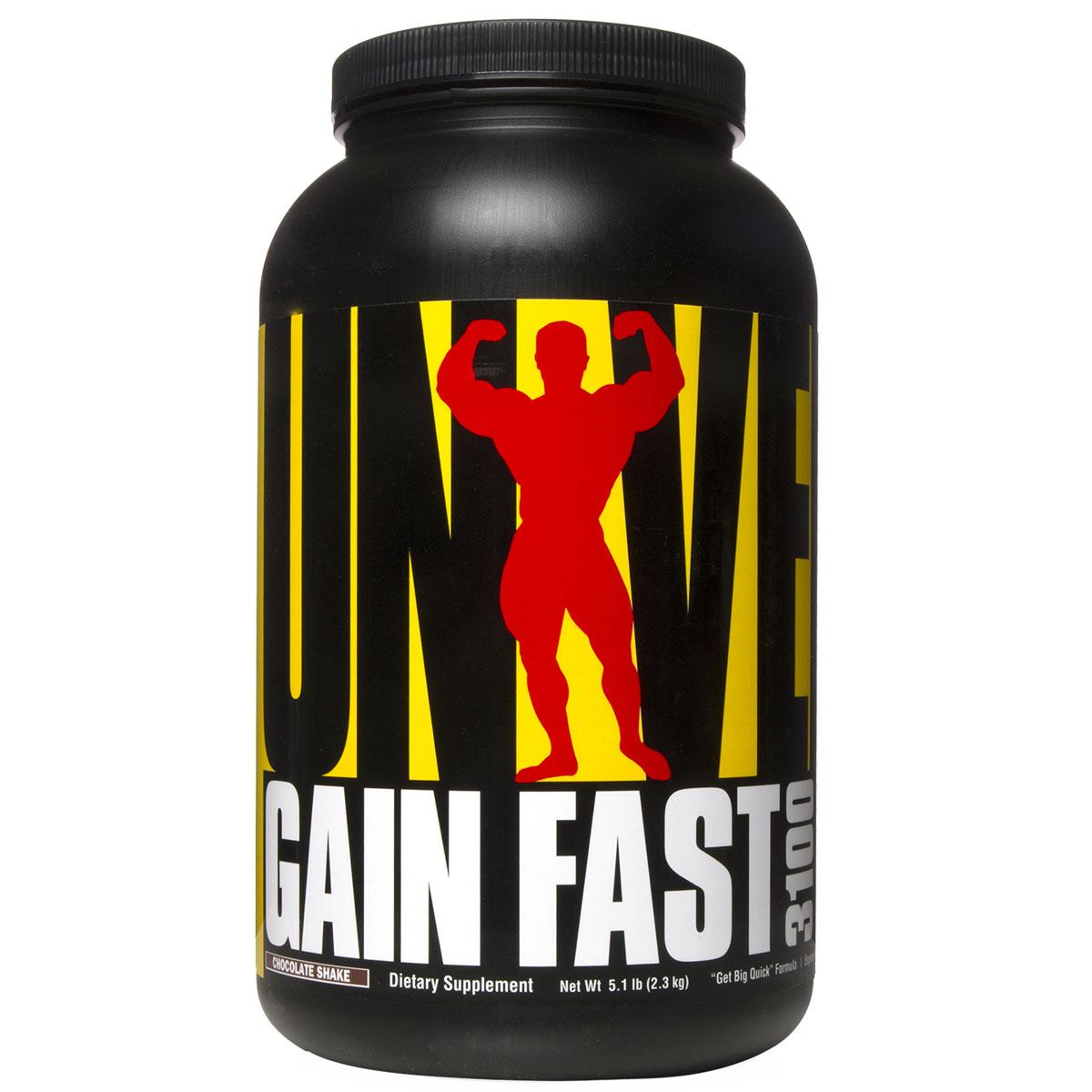 Гейнер UN Gain Fast 3100 5.1lb шоколадU1212GAIN FAST от Universal Nutrition - сверхмощная и наиболее эффективная формула увеличения веса, которая поможет Вам построить массивную жесткую мускулатуру. GAIN FAST - это первый увеличивающий вес препарат с синергической формулой (формулой взаимно усиливающего действия компонентов). Этот превосходный продукт содержит богатые белками питательные вещества, а также активные анаболические факторы (такие как колострум IGF, аргинин пироглутамат, хром и многие другие), которые воздействуют непосредственно на зоны роста мышечных клеток. GAIN FAST от Universal Nutrition имеет уникальную 3100 калорийную формулу Get-Big-Quick, высочайшая концентрация калорий которой позволяет чрезвычайно быстро нарастить мышечную массу. Высокое содержание калорий в комбинации с превосходными разветвленными аминокислотами, факторами, оптимизирующими метаболизм и анаболическими агентами позволяют Вашему организму нарастить невероятную мышечную массу, максимально активизируя синтез мышечного белка и сводя к минимуму распад мышечных тканей. Рекомендации по применению:Принимайте одну порцию между завтраком и обедом, одну порцию за 1-1,5 часа перед тренировкой. Рекомендации по приготовлению:смешать 5 мерных ложек (229г) порошка с 450 г воды или нежирного молока.Как повысить эффективность тренировок с помощью спортивного питания? Статья OZON Гид