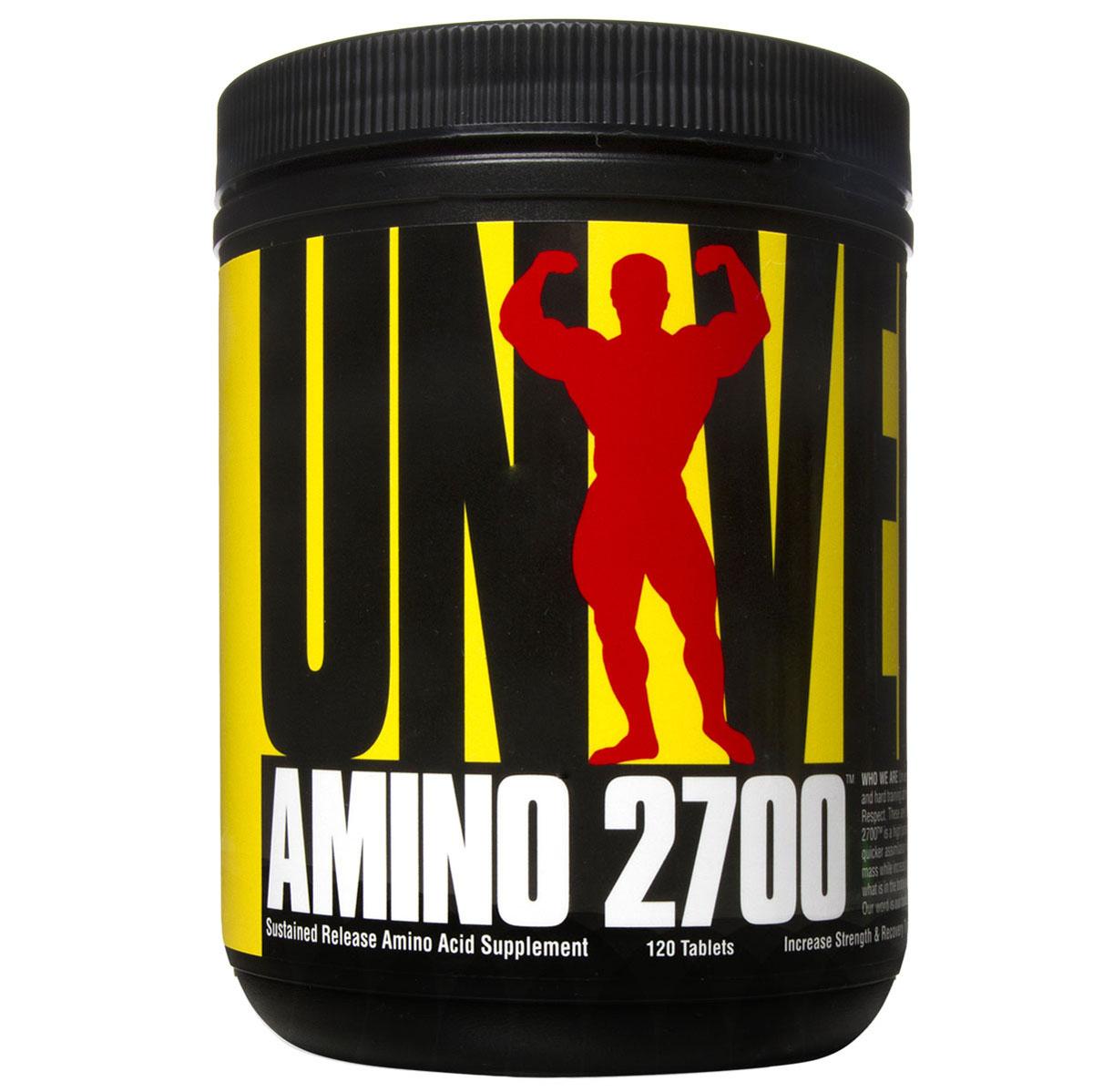 Аминокислотный комплекс Universal Nutrition Amino 2700, 120 таблетокU2700Amino 2700 - аминокислоты в легко расщепляемой пептидной формы, полученные из сывороточного протеина очень высокой чистоты. Amino 2700 очень быстро усваивается, поддерживая анаболизм и встраиваясь в мышцы именно тогда, когда это необходимо. Рекомендации по применению:принимать по 3 таблетки 3 раза в день. Например один раз до тренировки, один раз после нее и между приемами пищи.Как повысить эффективность тренировок с помощью спортивного питания? Статья OZON Гид