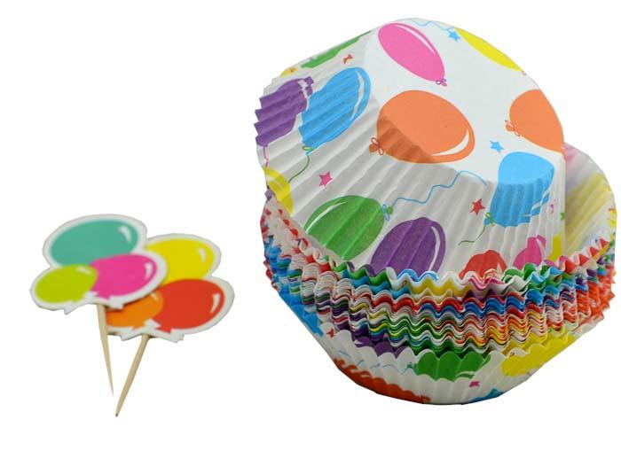 Набор для выпечки и украшения кексов Marmiton Воздушные шары