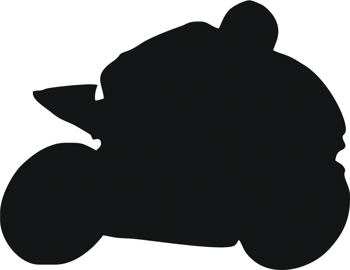 Наклейка автомобильная Оранжевый слоник Мотоциклист 2, виниловая, цвет: черный150MT0002BОригинальная наклейка Оранжевый слоник Мотоциклист 2 изготовлена из высококачественной виниловой пленки, которая выполняет не только декоративную функцию, но и защищает кузов автомобиля от небольших механических повреждений, либо скрывает уже существующие.Виниловые наклейки на автомобиль - это не только красиво, но еще и быстро! Всего за несколько минут вы можете полностью преобразить свой автомобиль, сделать его ярким, необычным, особенным и неповторимым!