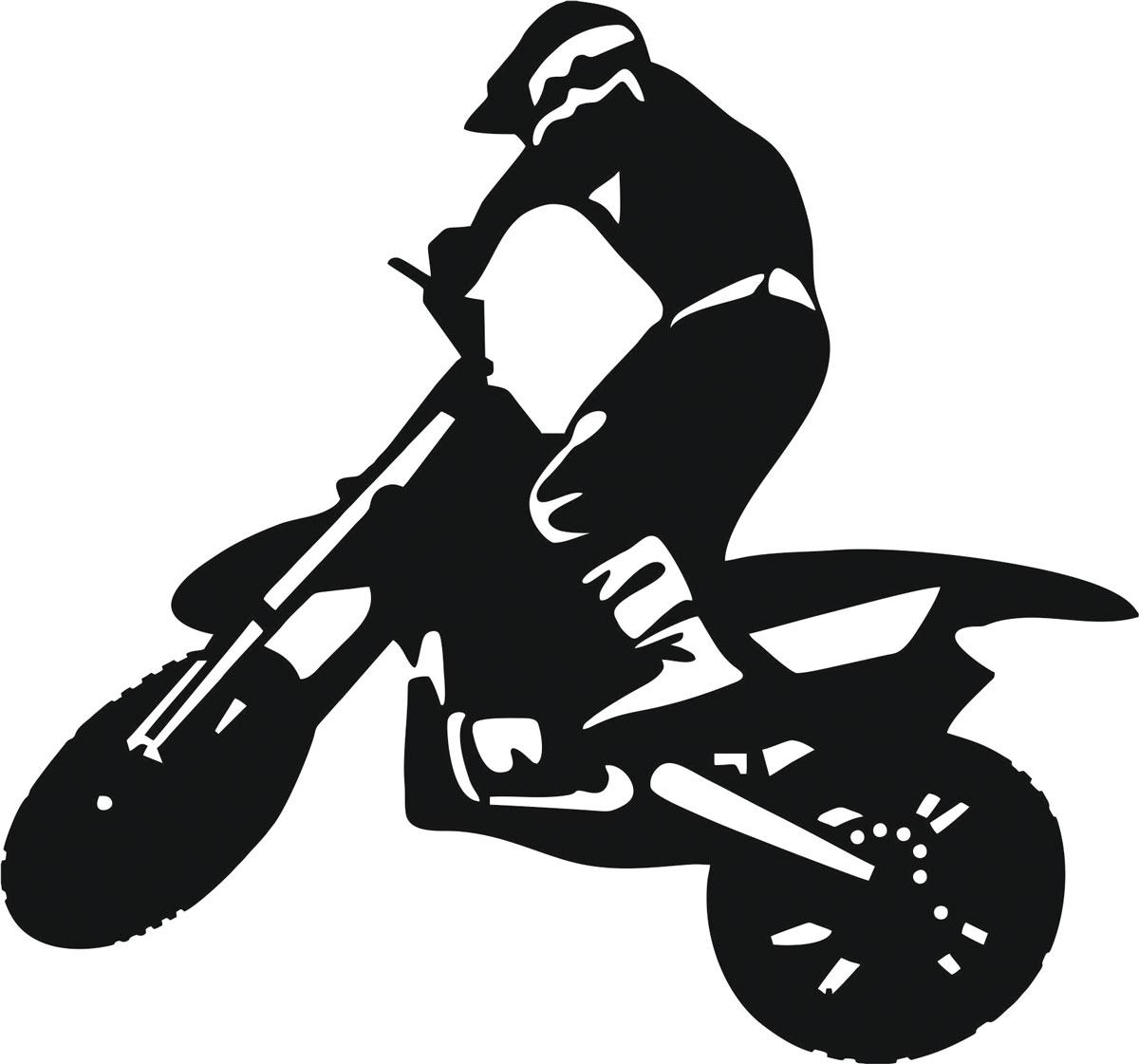 Наклейка автомобильная Оранжевый слоник Мотоциклист 5, виниловая, цвет: черный150MT0005BОригинальная наклейка Оранжевый слоник Мотоциклист 5 изготовлена из высококачественной виниловой пленки, которая выполняет не только декоративную функцию, но и защищает кузов автомобиля от небольших механических повреждений, либо скрывает уже существующие.Виниловые наклейки на автомобиль - это не только красиво, но еще и быстро! Всего за несколько минут вы можете полностью преобразить свой автомобиль, сделать его ярким, необычным, особенным и неповторимым!