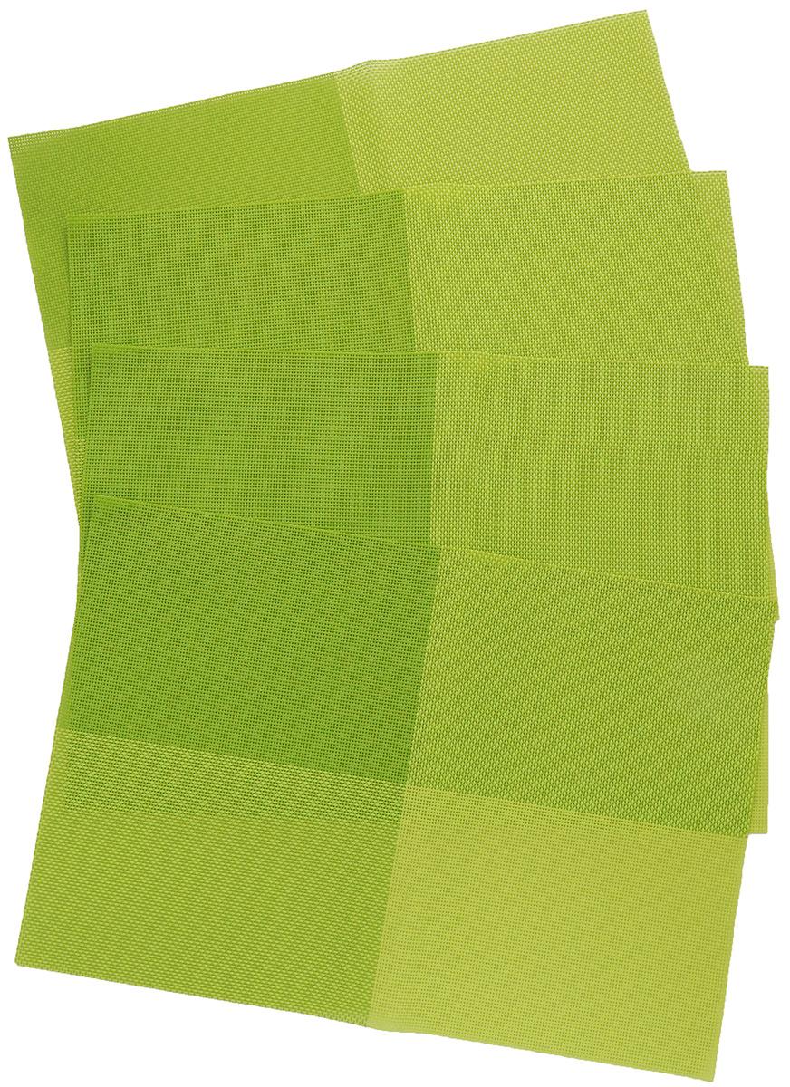 Набор салфеток под горячее Proffi Home Классика, цвет: зеленый, 45 х 30 см, 4 штPH3664Набор Proffi Классика, состоящий из 4 салфеток под горячее, идеально впишется в интерьер современной кухни.Салфетки, выполненные из текстилена, не впитывают влагу, легко моются, не деформируются при длительном использовании, пропускают воздух, выдерживают температуру до 100°С.Каждая хозяйка знает, что салфетка под горячее - это незаменимый и очень полезный аксессуар на каждой кухне. Ваш стол будет не только украшен оригинальной салфеткой, но и сбережен от воздействия высоких температур ваших кулинарных шедевров.Состав: текстилен (70% ПВХ, 30% полиэстер). Размер салфетки: 45 х 30 см.