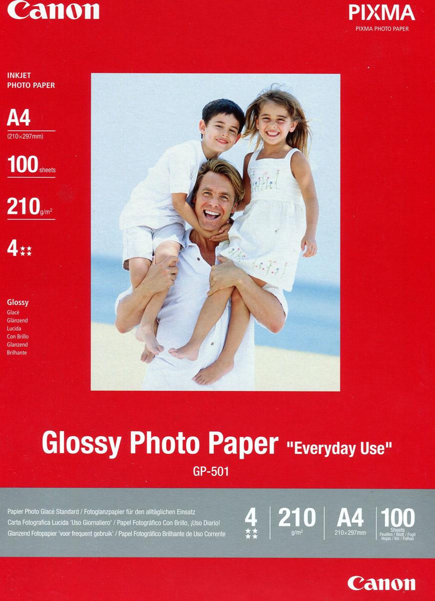 Canon GP-501 170/A4/100л Glossy Photo Paper (0775B001)0775B001Экономичная глянцевая бумага Canon GP-501 A4 для повседневной фотопечати. Идеально подходит для печати цифровых фотографий, которыеможно отсылать близким, друзьям и знакомым.Толщина: 210 мкм