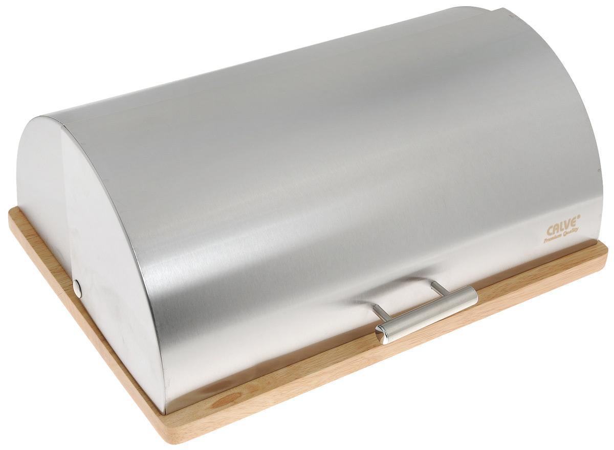 Хлебница Calve, 39 х 28 х 16 см. CL-4153CL-4153Хлебница Calve изготовлена из высококачественной нержавеющей стали. Деревянная подставка обеспечивает устойчивое расположение. Крышка плотно и легко закрывается.Стильная хлебница прекрасно впишется в интерьер кухни и надолго сохранит ваш хлеб вкусным и свежим.Толщина стенок: 0,5 мм.