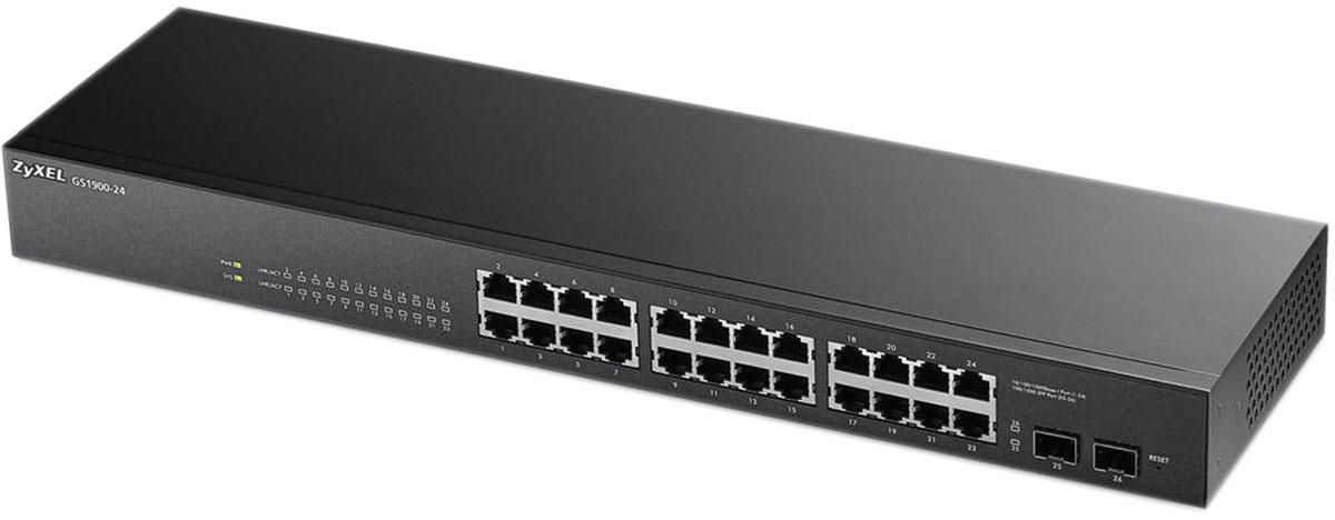 Zyxel GS1900-24 коммутатор (24 порта) коммутатор zyxel xgs2210 28 управляемый 24 порта