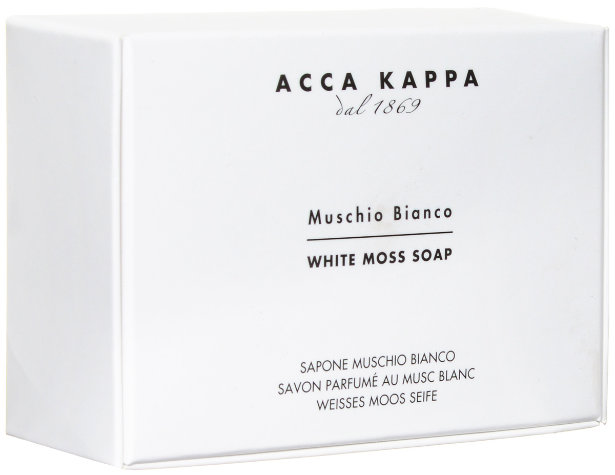 Растительное мыло Acca Kappa Белый Мускус, 150 г853320Растительное мыло Белый Мускус деликатно очищает кожу. Идеально подходит для всех типов кожи.Растительные компоненты получены из кокосового масла и сахарного тростника, прекрасно очищают и увлажняют кожу. Экстракты мелиссы лимонной, омелы, ромашки, тысячелистника и хмеля известны своими противовоспалительными свойствами и превосходно дополняют формулу. Так же мыло обогащено аллантоином растительного происхождения, которое обладает заживляющими свойствами и способствует регенерации клеток. Характеристики:Вес: 150 г. Производитель: Италия.Товар сертифицирован.