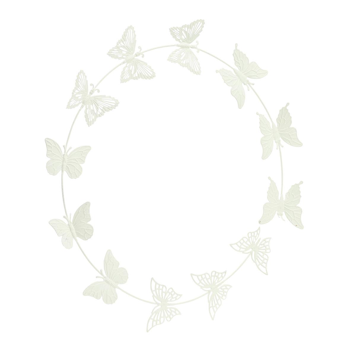 Украшение декоративное Gardman Butterflies, настенное, цвет: кремовый17520Декоративное настенное украшение Gardman Butterflies изготовлено из металла. Оно отлично подойдет для дома и придаст неповторимый дизайн вашему интерьеру.