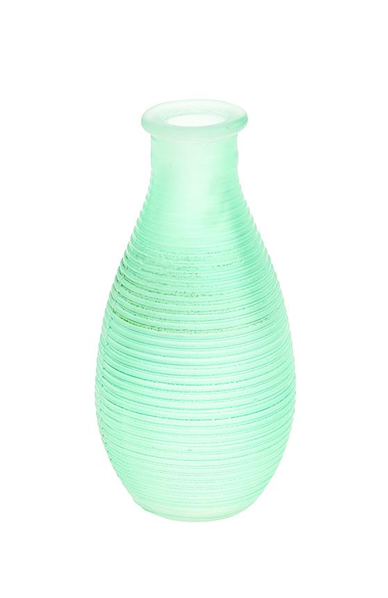 Ваза Gardman Mini, цвет: светло-зеленый, высота 14 см17622Изящная ваза Gardman Mini, изготовленная из стекла с металлической фольгой внутри, имеет оригинальную форму. Она идеально дополнит интерьер офиса или дома и станет желанным и стильным подарком.Высота вазы: 14 см.