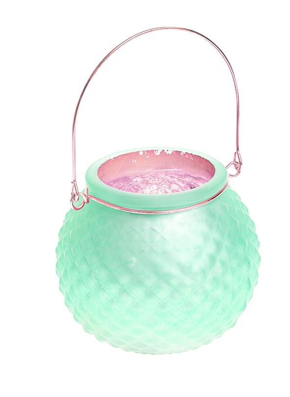 Подсвечник подвесной Gardman Honey Pot. Diamond, цвет: светло-зеленый, 8,5 см17624Декоративный подсвечник Gardman Honey Pot. Diamond изготовлен извысококачественногостекла с металлической фольгой внутри. Он позволит украсить интерьер дома илирабочегокабинета оригинальным образом. Вы можете поставить или подвеситьподсвечник в любомместе, где он будет удачно смотреться и радовать глаз. Кроме того - этоотличный вариантподарка для ваших близких и друзей.