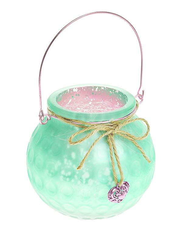 Подсвечник подвесной Gardman Honey Pot, цвет: светло-зеленый, 8,5 см17625Декоративный подсвечник Gardman Honey Pot изготовлен из высококачественного стекла с металлической фольгой внутри. Он позволит украсить интерьер дома или рабочего кабинета оригинальным образом. Вы можете поставить или подвесить подсвечник в любом месте, где он будет удачно смотреться и радовать глаз. Кроме того - это отличный вариант подарка для ваших близких и друзей.