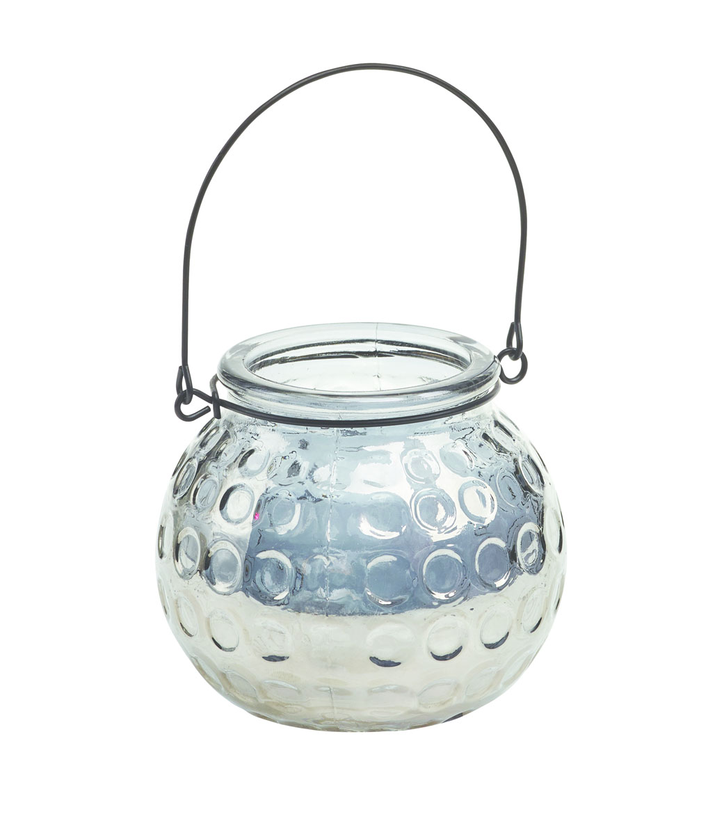 Подсвечник подвесной Gardman Honey Pot, цвет: серебристый, 8,5 см17915Декоративный подсвечник Gardman Honey Pot, изготовленный извысококачественногостекла, позволит украсить интерьер дома илирабочегокабинета оригинальным образом. Вы можете поставить или подвеситьподсвечник в любомместе, где он будет удачно смотреться и радовать глаз. Кроме того - этоотличный вариантподарка для ваших близких и друзей.