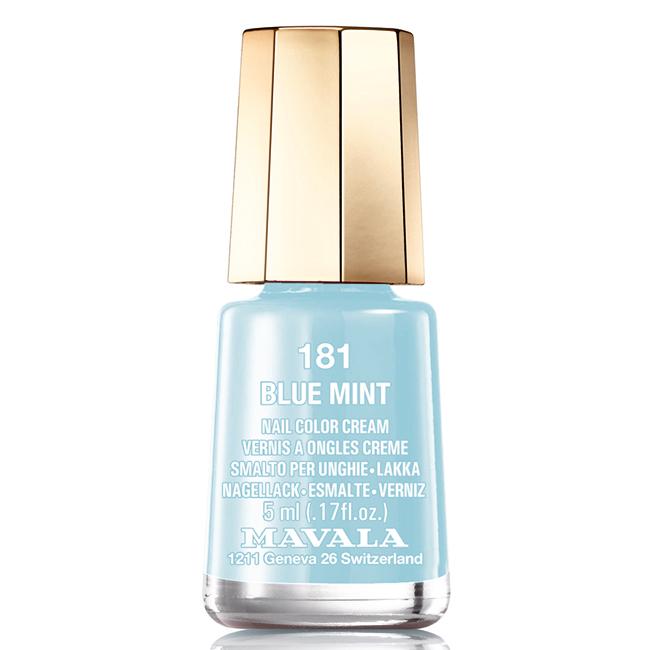 Mavala Лак для ногтей Голубая мята/Blue mint , Тон 181, 5 мл08-1196Лаки для ногтей Mavala представлены классическими и ультрамодными оттенками. Они пропускают воздух даже через 3-4 слоя, давая возможность ногтям дышать. Специально разработанный состав лаков позволяет им оставаться свежими и насыщенными долгое время. Лаки не содержат толуол, формальдегид, камфору, дибутил фталат, канифоль и добавленный никель.
