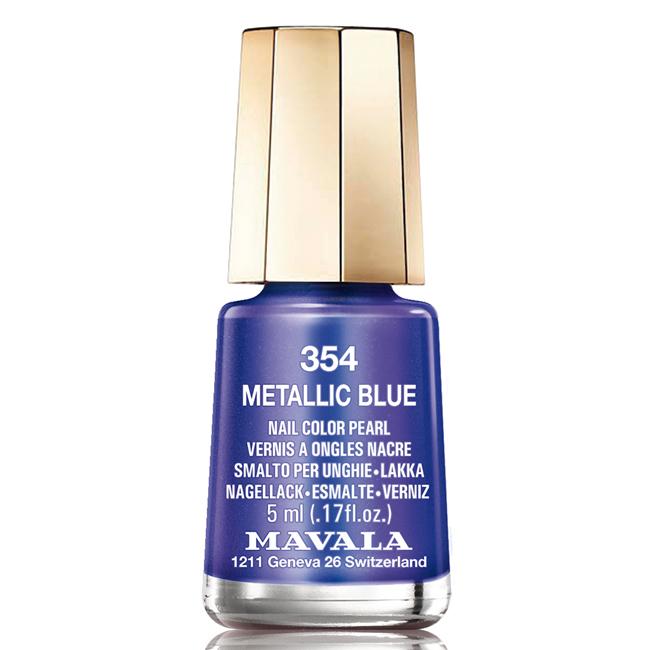 Mavala Лак для ногтей Синий кобальт/Metallic Blue, Тон 354, 5 мл08-1399Лаки для ногтей Mavala представлены классическими и ультрамодными оттенками. Они пропускают воздух даже через 3-4 слоя, давая возможность ногтям дышать. Специально разработанный состав лаков позволяет им оставаться свежими и насыщенными долгое время.Лаки не содержат толуол, формальдегид, камфору, дибутил фталат, канифоль и добавленный никель.
