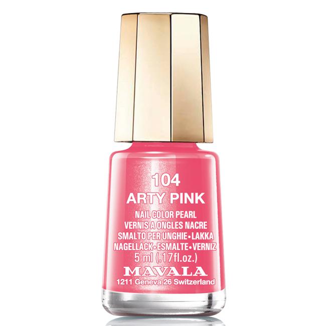 Mavala Лак для ногтей Розовый арт/Arty Pink, Тон 104, 5 мл08-1447Лаки для ногтей Mavala представлены классическими и ультрамодными оттенками. Они пропускают воздух даже через 3-4 слоя, давая возможность ногтям дышать. Специально разработанный состав лаков позволяет им оставаться свежими и насыщенными долгое время.Лаки не содержат толуол, формальдегид, камфору, дибутил фталат, канифоль и добавленный никель.