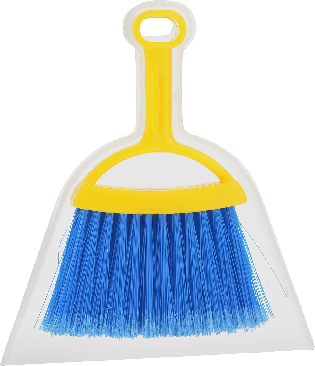 Набор для уборки Fratelli RE Mini, цвет: прозрачный, желтый, 2 предмета11701-A_прозрачный, желтыйНабор для уборки Fratelli RE Mini включает в себя совок и щетку-сметку, выполненные из прочного пластика и сложных полимеров. Эластичный ворс на щетке не оставит от грязи и следа, мусор будет легко сметаться на него. Для дополнительного удобства совок и щетка-сметка снабжены специальным креплением, с помощью которого, вложив щетку в совок, их можно разместить в любом месте. Размер совка: 21 х 19 х 2,5 см. Длина ручки совка: 8 см. Размер щетки: 19 х 14 х 2 см. Длина ручки щетки: 11 см.Длина ворса: 7,5 см.