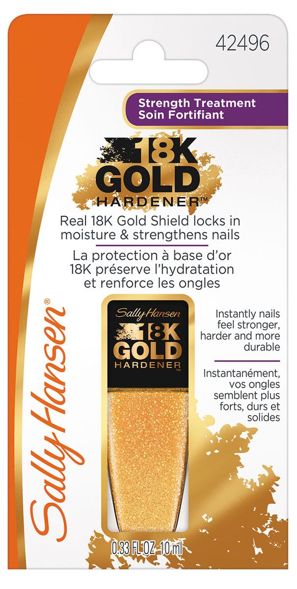 Sally Hansen 18K GOLD Средство для укрепления ногтей gold hardener 10 мл,10 мл30076803000Супер укрепляющее средство для ногтей18K Gold Hardener помогает удерживать влагу в ногтевой пластине, ухаживает и укрепляет. Эта инновационная новинка, содержащая настоящее 18-ти каратное золото, пептиды и аминокислоты, способствует здоровому и быстрому росту крепких ногтей. Роскошная комплексная формула создаст прочный щит на ваших ногтях, защищая их от сколов и отслаивания, обеспечивая рост крепких и здоровых ногтей