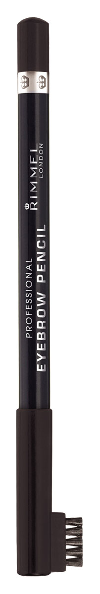Rimmel Карандаш для бровей С Щеточкой `Professional Eyebrow Pencil` Re-pack 004 тон(brown black),5,2 мл карандаш для бровей professional eyebrow pencil rimmel