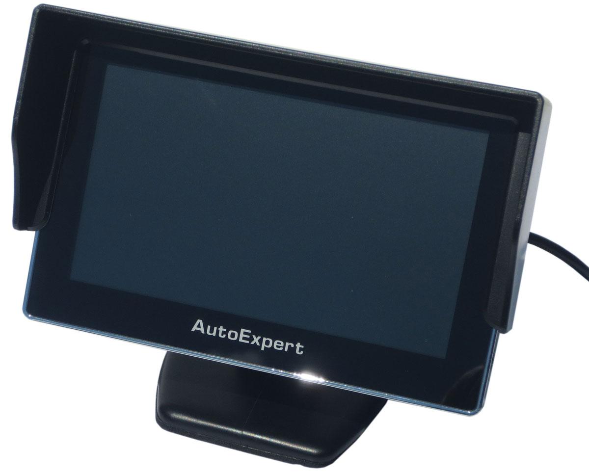 AutoExpert DV 450, Black автомобильный монитор2012506254502Монитор AutoExpert DV 450 предназначен для отображения информации с камеры заднего вида или другого источника видеосигнала. Имеет 2 видеовхода с автоматическим включением монитора при появлении видеосигналаТип экрана: TFT LCDПоддержка PAL-AUTO/NTSCЯркость: 250 кд/м2Контраст: 350:1