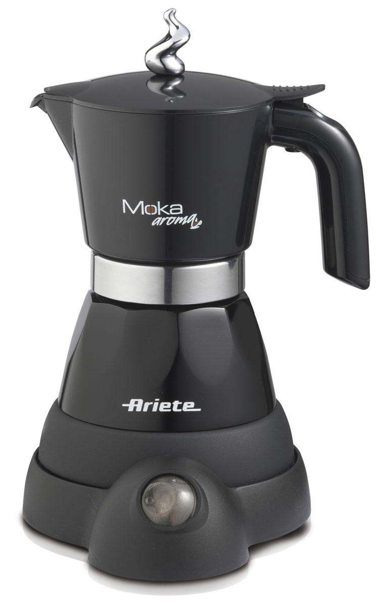 Ariete 1358/10 Moka Aroma, Black кофеварка эспрессо