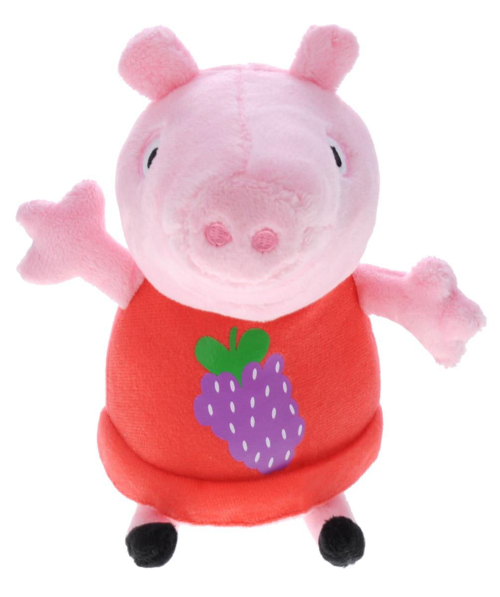 Peppa Pig Мягкая игрушка Пеппа в платье 15 см мягкая игрушка peppa pig джордж с машинкой свинка розовый текстиль 18 см 29620