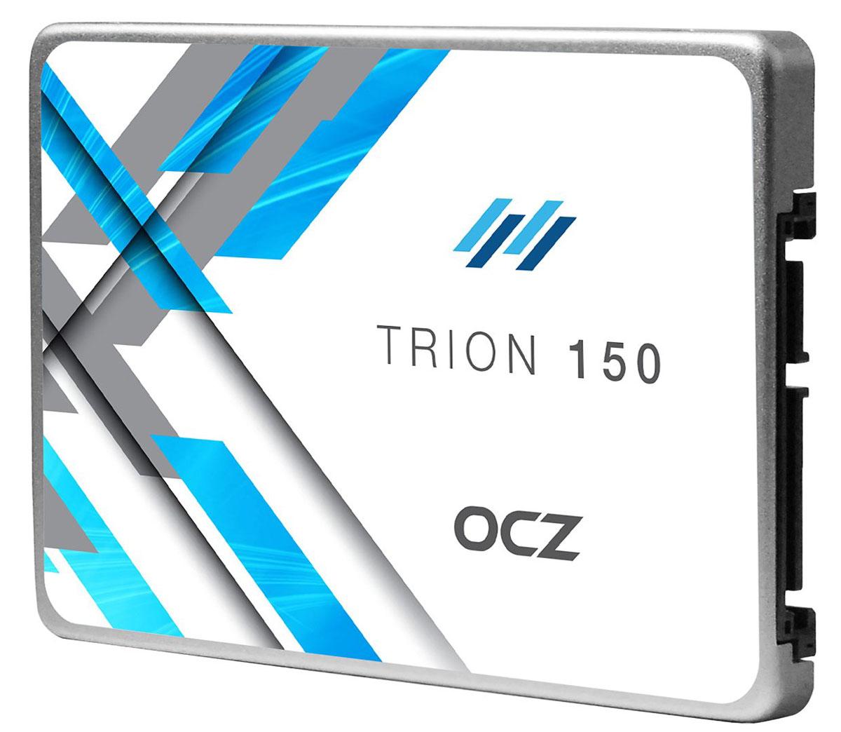 OCZ Trion 150 480GB (TRN150-25SAT3-480G) SSD накопитель352252Переход с жесткого диска на твердотельный накопитель должен быть простым и доступным, и именно в этом помогут SSD-накопители OCZ Trion 150. Для оптимизации и немедленного повышения скорости работы ноутбука или ПК в SSD-накопителе серии Trion 150 используется флеш-память TLC NAND от Toshiba. Это гарантирует долговечность, а также обеспечивает превосходный баланс производительности, надежности и качества, способного преобразить любую мобильную или стационарную систему.Быстрый и эффективный:Повысьте свою производительность при помощи накопителей Trion 150, и вы увидите, что ПК станет быстрее загружаться, время передачи файлов сократится, а общая отзывчивость системы улучшится. Попрощайтесь с задержками, присущими обычным жестким дискам, и начните новую эру вычислений, стоящую затрат вашего времени.Производительность по доступной цене:Переход на SSD может ощущаться, как если бы вы приобрели полностью новую систему - производительность значительно выросла, но при этом затраты не столь значительны. Накопители SSD Trion 150 точно поддерживают баланс цены и производительности, значит после апгрейда у вас останется достаточно средств на замену остальных компонентов.Качество и надежность мирового уровня:Все накопители Trion 150 созданы со 100% использованием технологий Toshiba, что обеспечивает им высокое качество и надежность. Ваши данные надежно защищены.Увеличенное время работы от батарей:Более энерго-эффективные накопители Trion 150 оптимизированы для малого потребления энергии, что означает более продолжительную работу от батарей.Серьезная скорость без обмана:Накопители Trion 150 обеспечивают достаточную реальную производительность для любых игровых и рабочих приложений. Никаких хитрых секретных трюков - исключительно производительная система хранения данных.