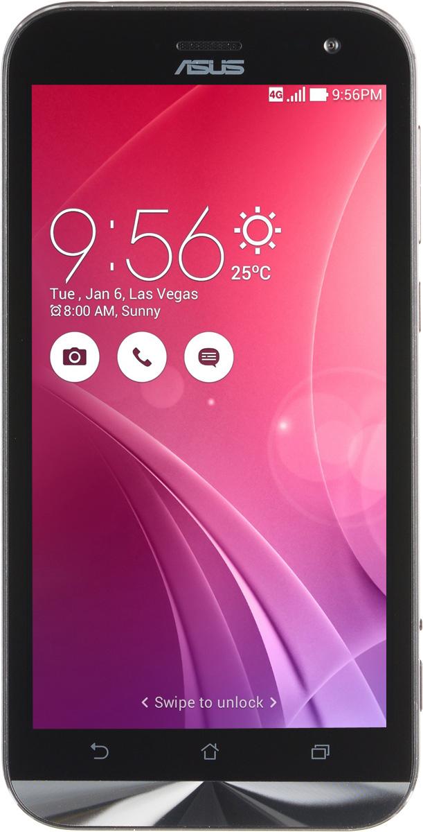 ASUS ZenFone Zoom ZX551ML, Black (90AZ00X1-M00740)90AZ00X1-M00740Asus ZenFone Zoom ZX551ML - это самый тонкий в мире смартфон с системой 3-кратного оптического увеличения. Максимальное же увеличение, доступное с его 10-элементным объективом Hoya, составляет 12 раз. ZenFone Zoom – это смартфон с классическим дизайном, выполненный в тонком (толщина от 5 мм) корпусе, основу которого составляет прочный цельнометаллический каркас. С холодным металлом контрастирует теплая кожаная отделка задней панели. Технологический процесс изготовления корпуса состоит из 201 этапа. Результатом является шедевр, с которым не хочется расставаться всю жизнь. Отличительной особенностью ZenFone Zoom является высококачественная тыловая камера с 3-кратным оптическим увеличением. В рамках технологии PixelMaster в устройстве реализовано множество функций, направленных на повышение качества фотоснимков, включая систему оптической стабилизации изображения, двухцветную вспышку Real Tone и моментальную лазерную автофокусировку, которая срабатывает всего за 0,03 с.Инновационный объектив смартфона ZenFone Zoom был создан специалистами японской фирмы Hoya, работающей в области высококачественных оптических устройств. В его состав входят 10 элементов, включая асферические и призматические линзы. Четыре линзы изготовлены из стекла, что способствует, наряду с другими инженерными решениями, повышению общего качества фото- и видеосъемки.ZenFone Zoom обладает мощной аппаратной начинкой, в которую входят четырехъядерный 64-битный процессор Intel Atom Z3590 с частотой 2,5 ГГц и целых 4 гигабайта оперативной памяти.Gorilla Glass 4 – последняя версия защитного покрытия дисплея от разработчиков Corning. Она вдвое прочнее предыдущей версии в тесте на падение, обладает в 2,5 раза большей остаточной прочностью и на 85% долговечней при ежедневном использовании.Дисплей ZenFone Zoom обладает специальным олеофобным покрытием, которое предотвращает появление жирных пятен. Более того, оно уменьшает статическое трение по с