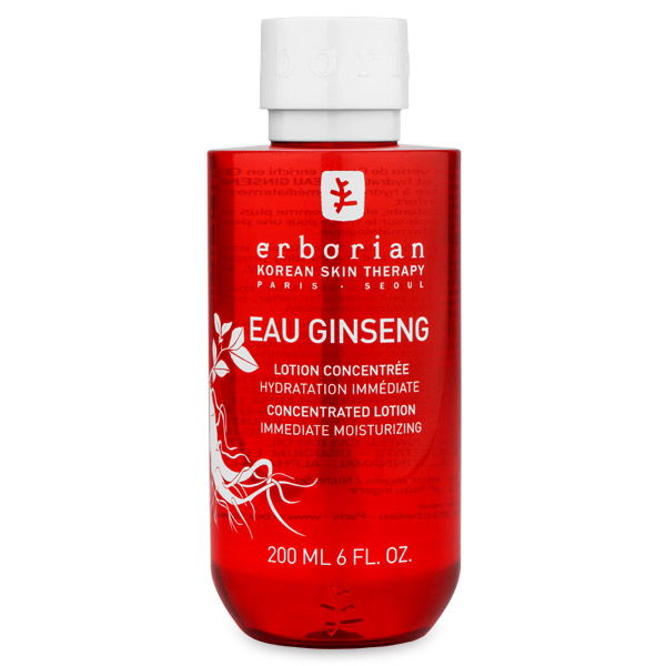 Erborian GINSENG Энергетический тоник для лица 190 мл780086Тоник обогащён целебными корейскими травами: корнем шестилетнего женьшеня, гинкго билоба и имбирём. Моментально увлажняет, смягчает и освежает кожу, придавая ей бархатистость.Мгновенное действие: - Мгновенная свежесть и заряд энергии;- Повышение уровня увлажнённости кожи на 30%;- Мягкая и бархатистая кожа. Долгосрочное действие: - Восстановление кожи и стимуляция процессов обновления клеток;- Активация микроциркуляции;- Устранение следов усталости.