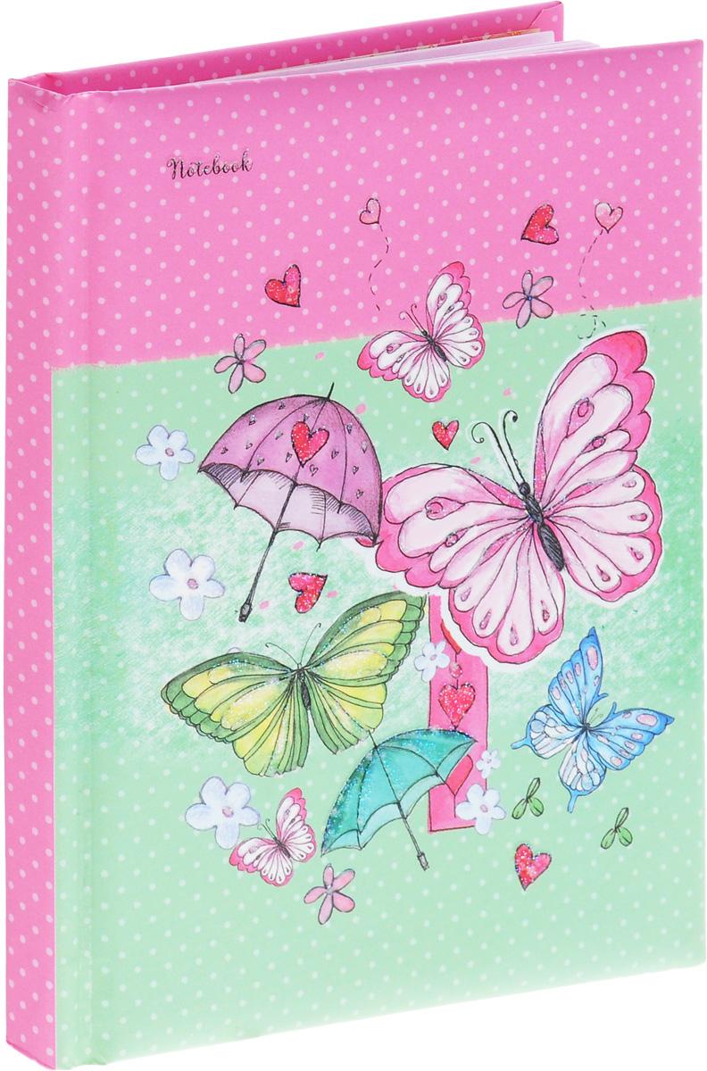 Listoff Записная книжка Нежные бабочки 80 листов в линейкуКЗБ6801772Записная книжка Listoff Нежные бабочки придаст вам индивидуальность и визуальную притягательность.Записные книжки призваны хранить в себе важную информацию на долгое время, поэтому нужно обязательно позаботиться, чтобы она была удобной для постоянного ношения с собой, стильной - потому что, на этот аксессуар обязательно обратят внимание окружающие.Внутренний блок изготовлен из высококачественной бумаги розового цвета и содержит 80 листов формата А6. На обложке, выполненной из плотного картона с поролоновой подкладкой, изображен нежный рисунок в виде бабочек. Блестки на обложке выделяют эту записную книжку из множества других.Книга для записей Listoff Нежные бабочки станет достойным аксессуаром среди ваших канцелярских принадлежностей. Она подойдет как для деловых людей, так и для любителей записывать свои мысли, рисовать скетчи, делать наброски.