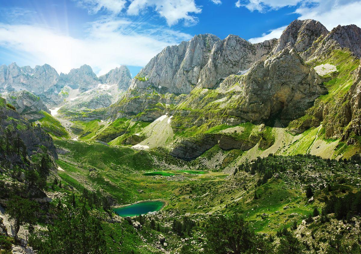 Фотообои Decoretto Горные озера, 180 х 127 см
