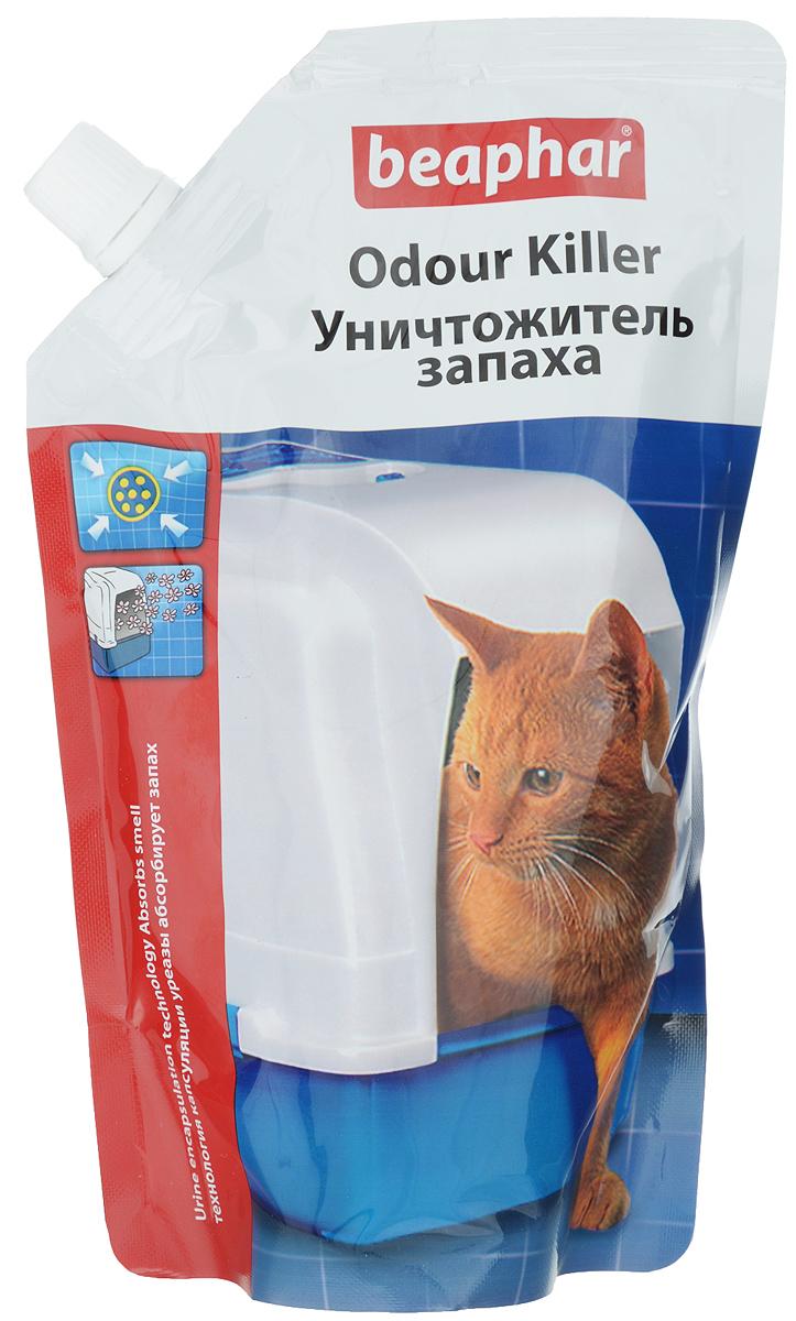 Уничтожитель запаха для кошачьих туалетов Beaphar Odour Killer, 400 г13210Уничтожитель запаха для кошачьих туалетов Beaphar Odour Killer - это уникальный продукт, в состав которого входит инновационная смесь: приятный дезодорант, блокиратор фермента (уреазы) и натуральные полезные бактерии. Он не просто маскирует запах, а полностью нейтрализует причину его появления! Сначала дезодорант устраняет первые проявления неприятного запаха мочи. После впитывания мочи активизируется натуральный ингибитор и блокиратор урезы, предотвращающий химическую реакцию, вызывающую резкий запах. И в заключении примерно через 1 час происходит полный распад всех составляющих мочу компонентов до углекислого газа и воды. Этот процесс происходит, благодаря активизации бактерий, использующих мочу как источник пищи, таким образом, полностью устраняется причина появления проблемы. Бактерии, используемые в продукте, совершенно безопасны для животных. Способ применения: насыпьте уничтожитель запаха на чистый наполнитель сверху или сначала насыпьте уничтожитель запаха, а потом заполните лоток наполнителем. Подходит для любых наполнителей. За один раз рекомендуемая доза 20 граммов продукта на стандартный лоток с наполнителем. Одной дозы хватает примерно на неделю, для одной кошки.Товар сертифицирован.