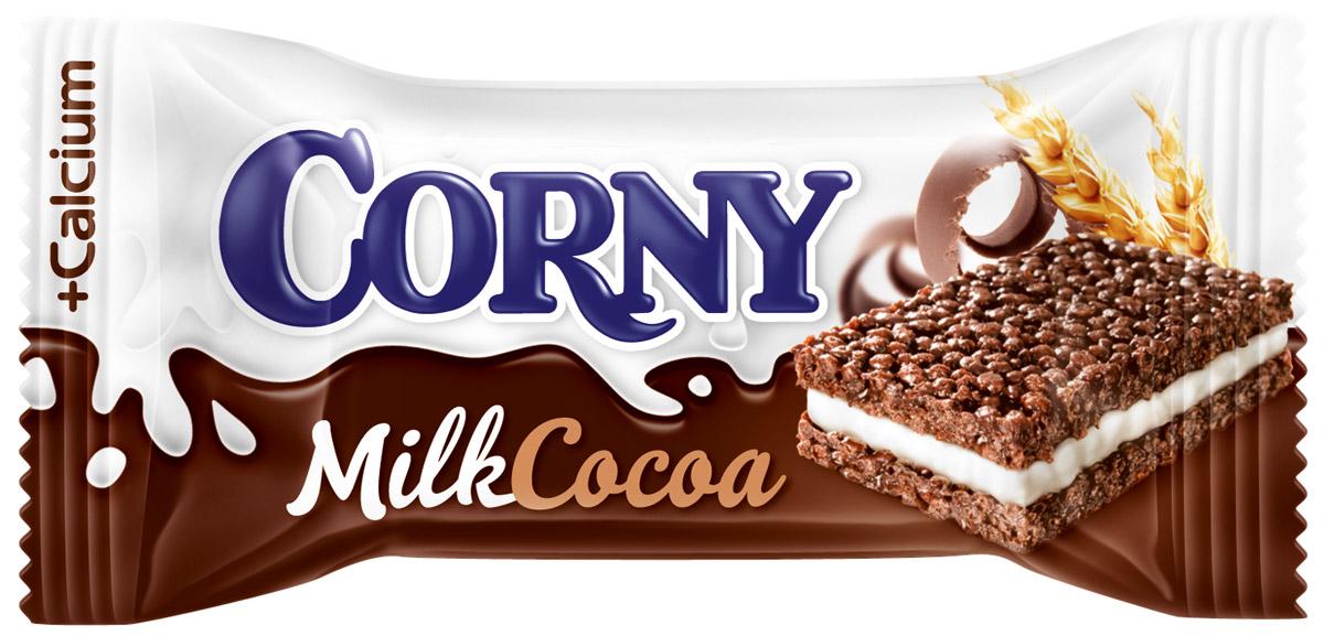 Corny Milk Cocoa батончик злаковый c молоком и какао, 30 г батончик злаковый fortuche мюсли с какао упаковка 30 шт х25гр