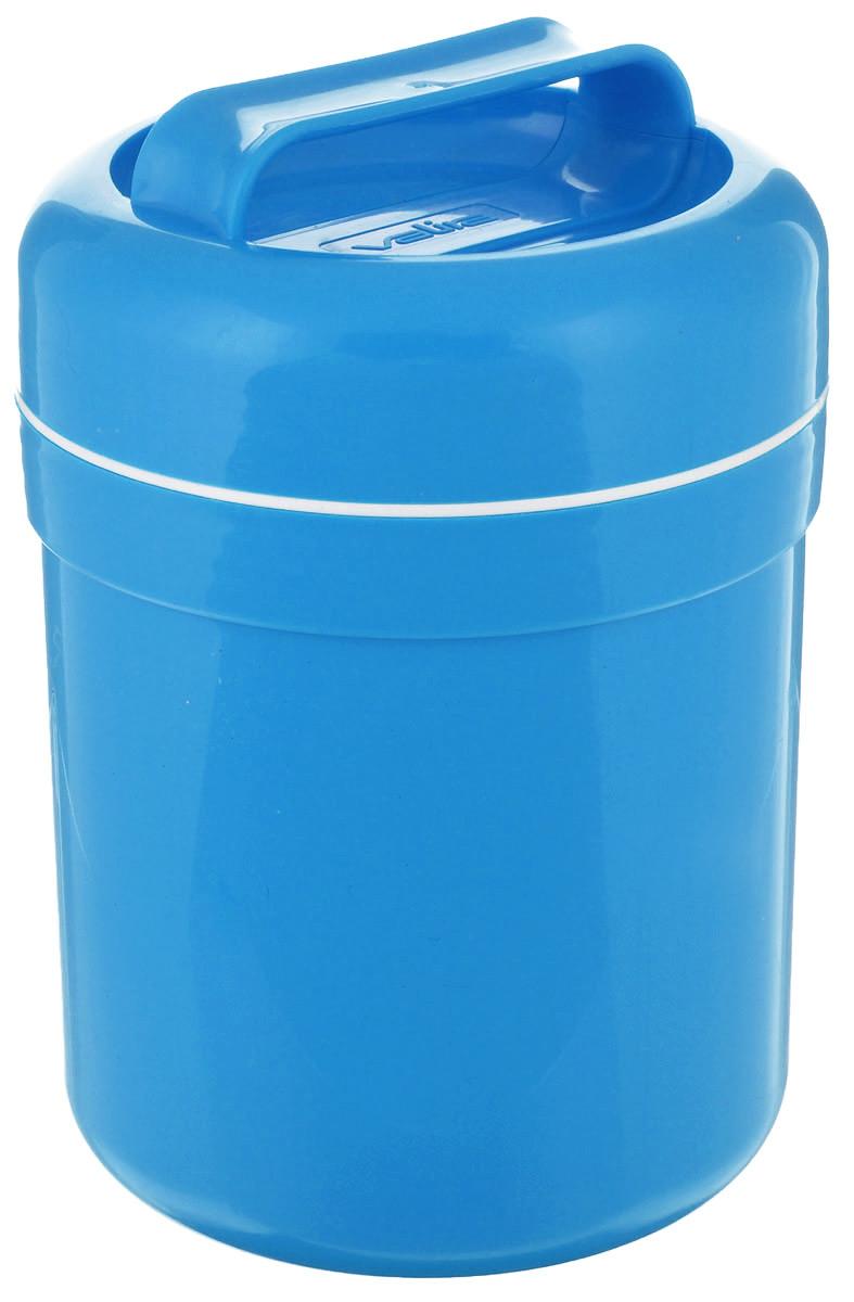 Термоконтейнер для еды Valira, цвет: голубой, 500 мл6207/139Термоконтейнер Valira - это удобный и легкий термический контейнер для еды, который сохраняет пищу горячей до 6 часов, холодной - до 8 часов. Контейнер выполнен из цветного пищевого пластика, внутри расположена стеклянная колба, а, как известно, стекло позволяет хранить тепло и холод лучше всех других материалов.Внутреннее пластиковое покрытие гигиенично и легко моется. Если нет возможности разогреть или сохранить в холоде пищу, этот контейнер будет вашим незаменимым помощником. Герметично закрывается крышкой с удобной ручкой для переноски. Подходит для ежедневного использования на работе или учебе, а также для отдыха на природе.