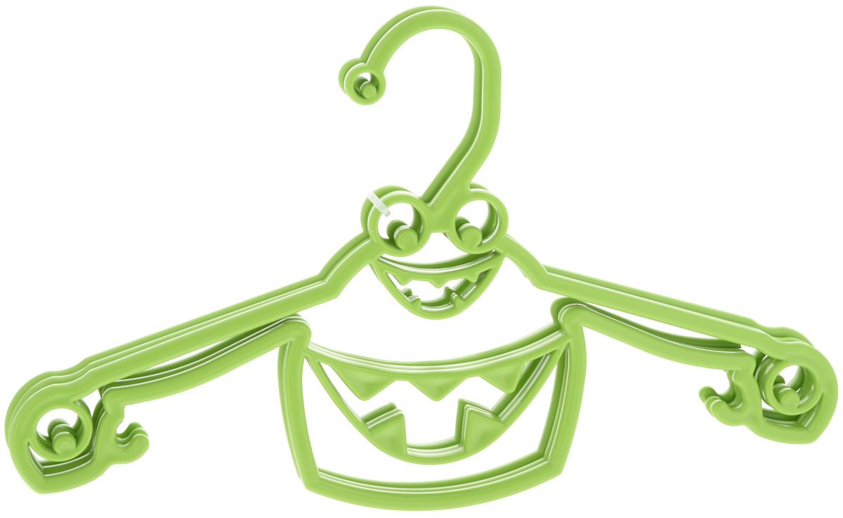 Набор вешалок Пластишка, с крючками, цвет: салатовый, 3 штС13024_салатовый2Набор Пластишка, изготовленный из прочного полипропилена, состоит из 3 детских вешалок для одежды с закругленными плечиками. Изделия оснащены крючками. Вешалка - это незаменимая вещь для того, чтобы ваша одежда всегда оставалась в хорошем состоянии.Комплектация: 3 шт.