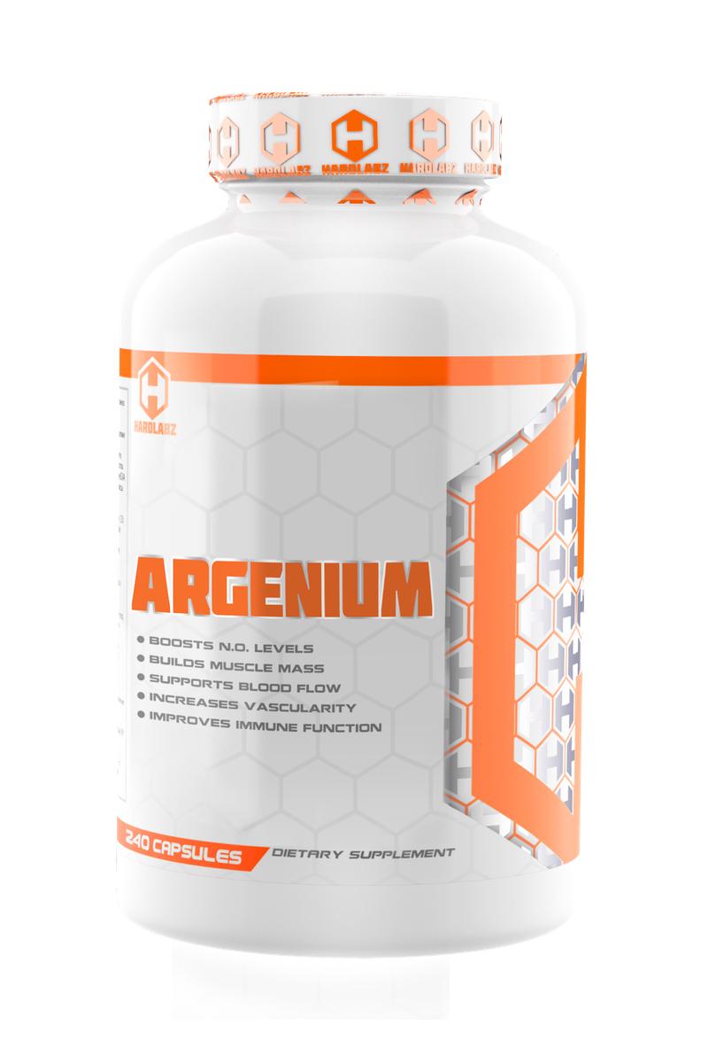 """Аргинин, содержащийся в Hardlabz """"Argenium"""", это – условно незаменимая   аминокислота. У взрослого и здорового человека аргинин вырабатывается   организмом в достаточном количестве. В то же время, у детей и подростков, у   пожилых и больных людей уровень синтеза аргинина часто недостаточен. Также   дополнительное потребление аргинина рекомендуется всем спортсменам и   людям, ведущим активный образ жизни. Аргинин повышает сосудорасширяющие   свойства в организме, что улучшает усвоение кислорода, накопление гликогена   и доставку питательных веществ к тренируемым мышцам. Увеличивает энергию,   помогает наращиванию мышечной массы, улучшает рельефность мышц.   Регулирует мыслительную деятельность, расслабляет сердечную мышцу,   помогает очищению печени и освобождению от шлаков. Благотворно действует   на потенцию и повышает либидо.В Hardlabz """"Argenium"""" каждая молекула   аргинина связана с молекулой этил эстера. Преимуществом аргинин этил эстера   перед обычным аргинином является очень хорошая стабильность,   растворимость и, соответственно, отличная усвояемость организмом.   Следовательно, транспортировка аргинина происходит намного эффективнее и   быстрее. Кроме того, для получения необходимого результата, вы можете   принимать аргинин в форме эстера в меньших дозировках, чем, если бы вы   принимали аргинин в обычной форме.    Товар не является лекарственным средством.  Товар не рекомендован для лиц младше 18 лет.  Могут быть противопоказания и следует предварительно   проконсультироваться со специалистом.      Как повысить эффективность тренировок с помощью спортивного питания? Статья OZON Гид"""