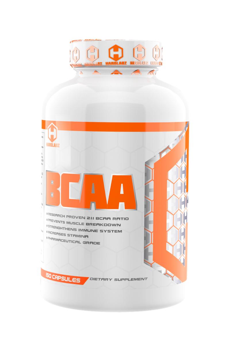 Комплекс аминокислот Hardlabz BCAA, 150 капсул