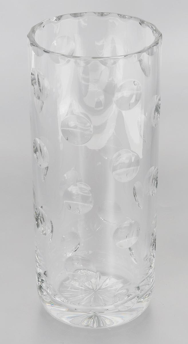 Ваза для цветов Proffi Home, высота 26 смPH3728Изящная ваза Proffi Home изготовлена из высококачественного хрусталя, отличающегося необыкновенной прозрачностью и великолепным сиянием. Ваза оформлена рельефным рисунком, что делает ее изящным украшением интерьера.Proffi Home дополнит интерьер офиса или дома и станет желанным и стильным подарком.Диаметр вазы (по верхнему краю): 11 см.Диаметр основания: 8 см.