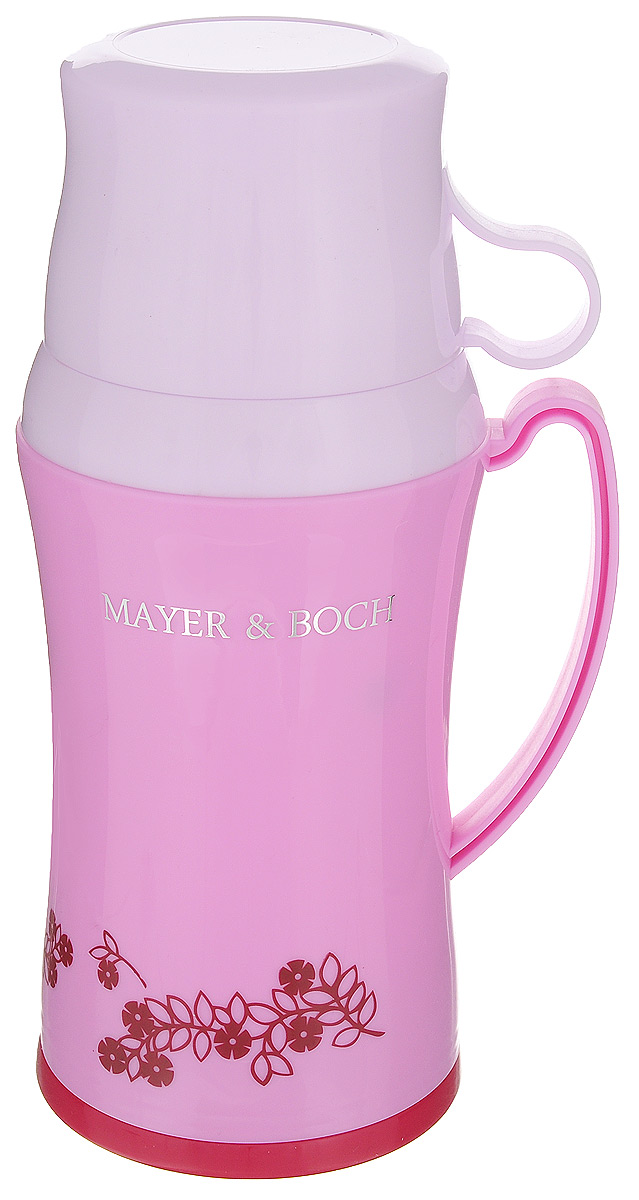 Термос Mayer & Boch, с двумя чашками, цвет: сиреневый, 600 мл22599_сиреневыйТермос Mayer & Boch со стеклянной колбой в пластиковом корпусе является одним из востребованных в России. Его температурная характеристика ни в чем не уступает термосам со стальными колбами, но благодаря свойствам стекла этот термос может быть использован для заваривания напитков с устойчивыми ароматами. В комплекте с термосом - две чашки разных размеров. Завинчивающаяся герметичная крышка предохранит от проливаний. Этот термос станет не только надежным другом в походе, но и отличным украшением вашей кухни.Общий размер термоса: 13,5 х 10,5 х 25,2 см.Размер большой чашки (без учета ручки): 9 х 9 х 6,5 см.Размер маленькой чашки: 8,5 х 8,5 х 5 см.