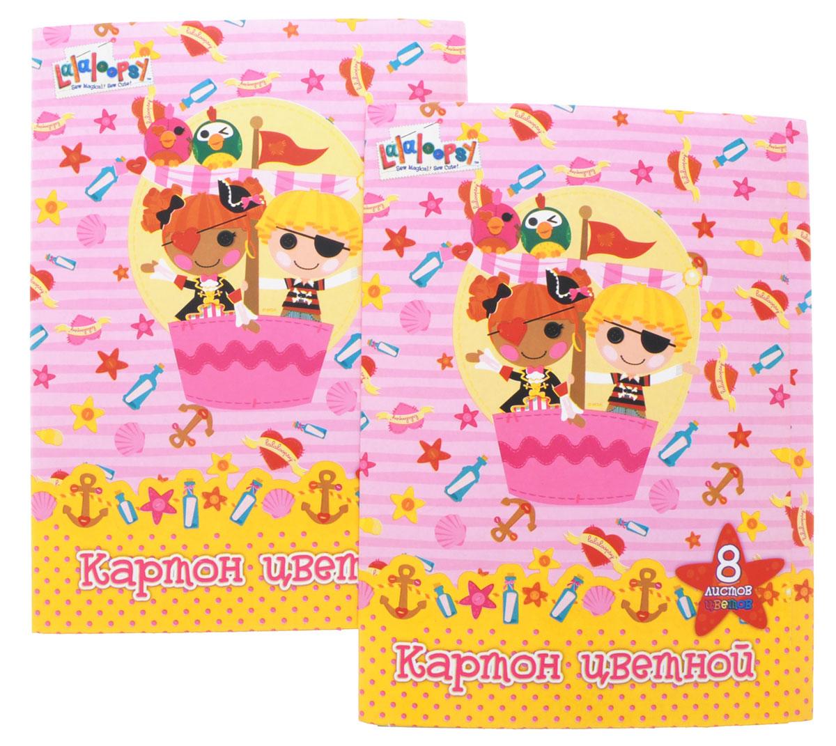 Action! Набор цветного картона Lalaloopsy 8 листов цвет розовый 2 шт action набор цветного картона strawberry shortcake 8 листов 2 шт