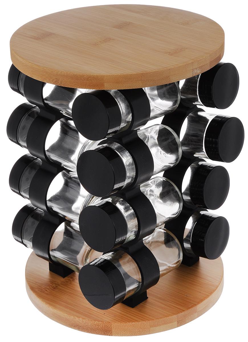 Набор для специй Mayer & Boch, на подставке, 17 предметов23293Набор для специй Mayer & Boch включает 16 баночек для специй, расположенных на бамбуковойподставке, благодаря чему емкости не потеряются и всегда будут у вас под рукой. Емкостивыполнены из высококачественного стекла и снабжены пластиковыми крышками. Герметичноезакрытие обеспечивает самое лучшее хранение. Баночки можно наполнять любымииспользуемыми вами специями. Специальная вращающаяся подставка делает хранение баночекочень удобным.Модный, элегантный и яркий дизайн набора украсит интерьер вашей кухни. Наслаждайтесьприготовлением пищи с вашим набором баночек для специй.В комплект входит набор наклеек для баночек с названиями специй. Объем баночки: 85 мл.Размер баночки: 4,2 х 4,2 х 9,5 см.Размер подставки: 19 х 19 х 26,5 см.