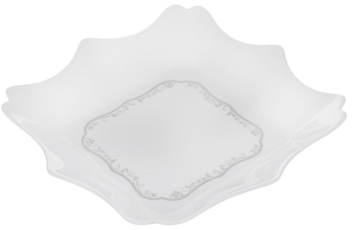Тарелка глубокая Luminarc Authentic Silver, цвет: белый, 22,5 х 22,5 смH8384Глубокая тарелка Luminarc Authentic Silver выполнена из ударопрочного стекла и оформлена в классическом стиле. Изделие сочетает в себе изысканный дизайн с максимальной функциональностью. Прекрасно впишется в интерьер вашей кухни и станет достойным дополнением к кухонному инвентарю.Можно мыть в посудомоечной машине и использовать в СВЧ.Размер (по верхнему краю): 22,5 х 22,5 см. Высота стенки: 4,5 см.