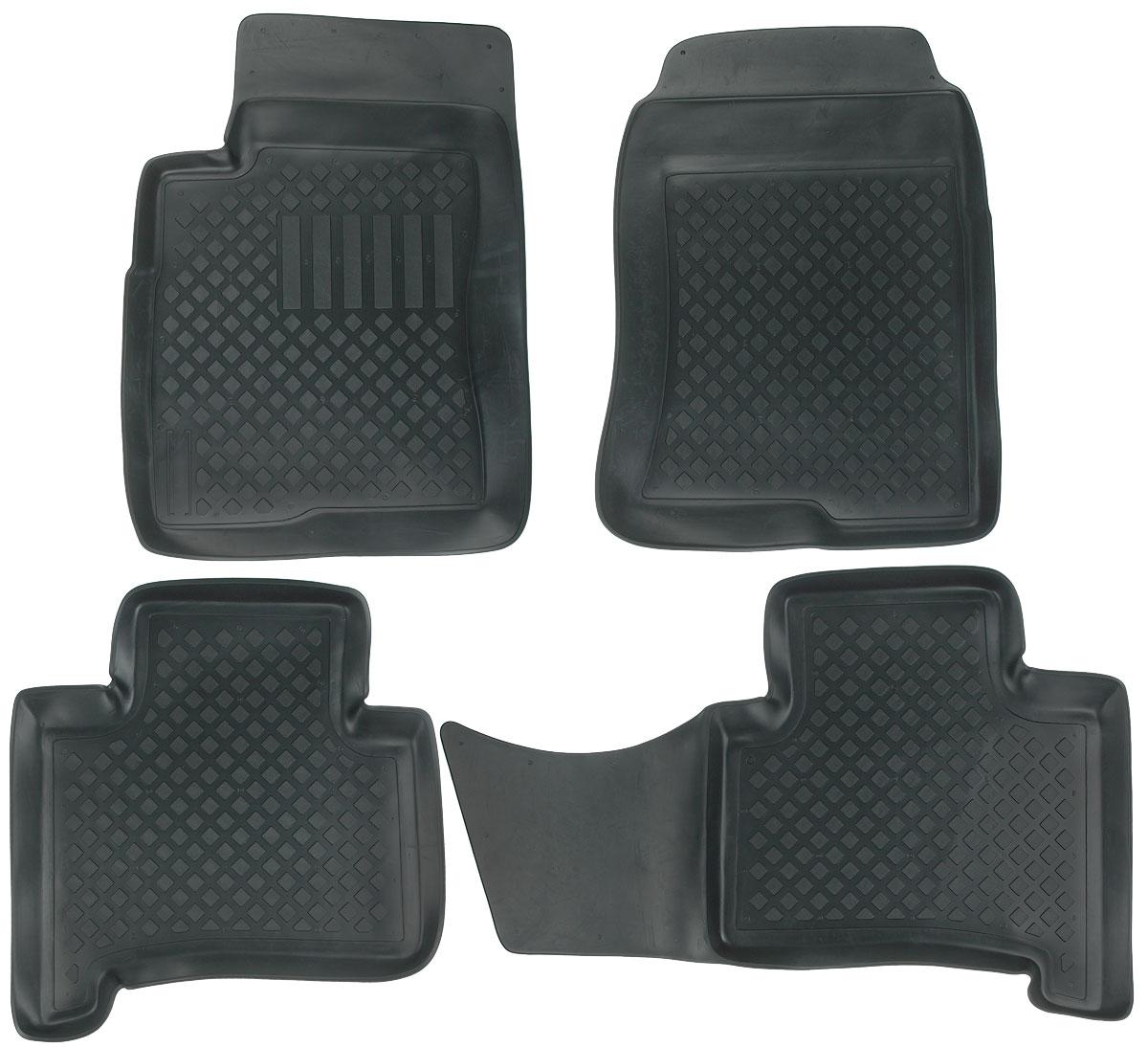 Набор автомобильных ковриков L.Locker, для Toyota Land Cruiser Prado (02-), в салон, 4 шт0209060301Набор L.Locker, изготовленный из полиуретана, состоит из 4 антискользящих 3D ковриков, которые производятся индивидуально для каждой модели автомобиля. Изделие точно повторяет геометрию пола автомобиля, имеет высокий борт, обладает повышенной износоустойчивостью, лишено резкого запаха и сохраняет свои потребительские свойства в широком диапазоне температур от -50°С до +50°С. Комплектация: 4 шт.Размер ковриков: 75 см х 56 см; 95 см х 54 см; 59 см х 64 см; 72 см х 54 см.