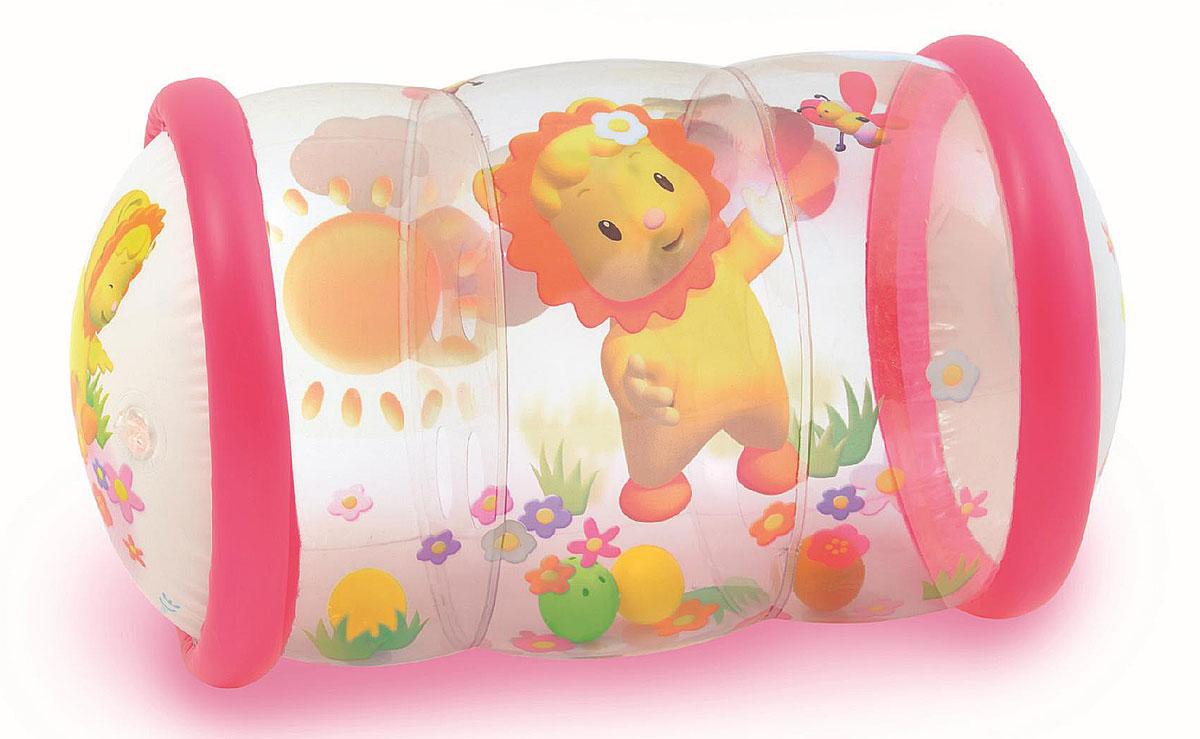 кубики smoby smoby развивающая игрушка кубики пазлы Smoby Надувной цилиндр с шариками цвет розовый